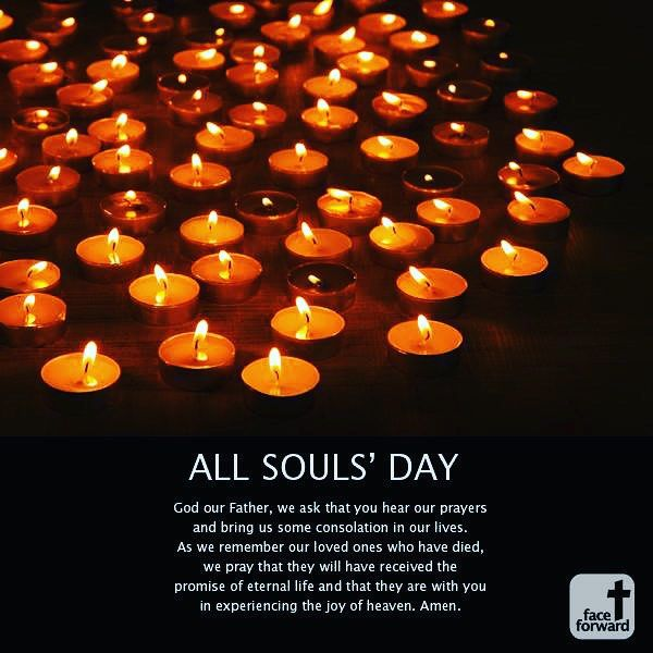 All Souls Day Prayer Catholic Celebration Candles