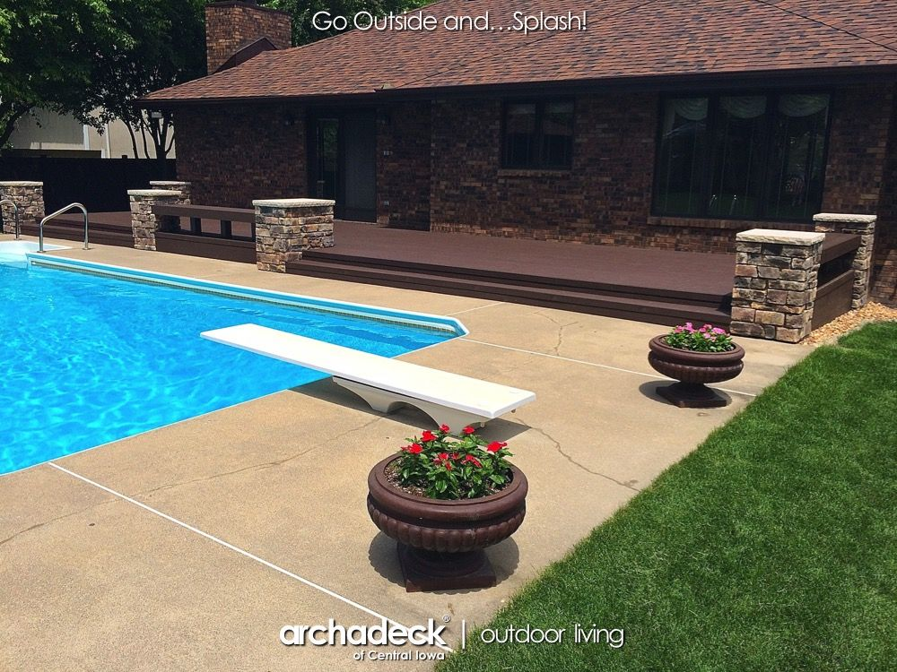 pool deck trex elevations and transcends des moines ankeny rh pinterest com