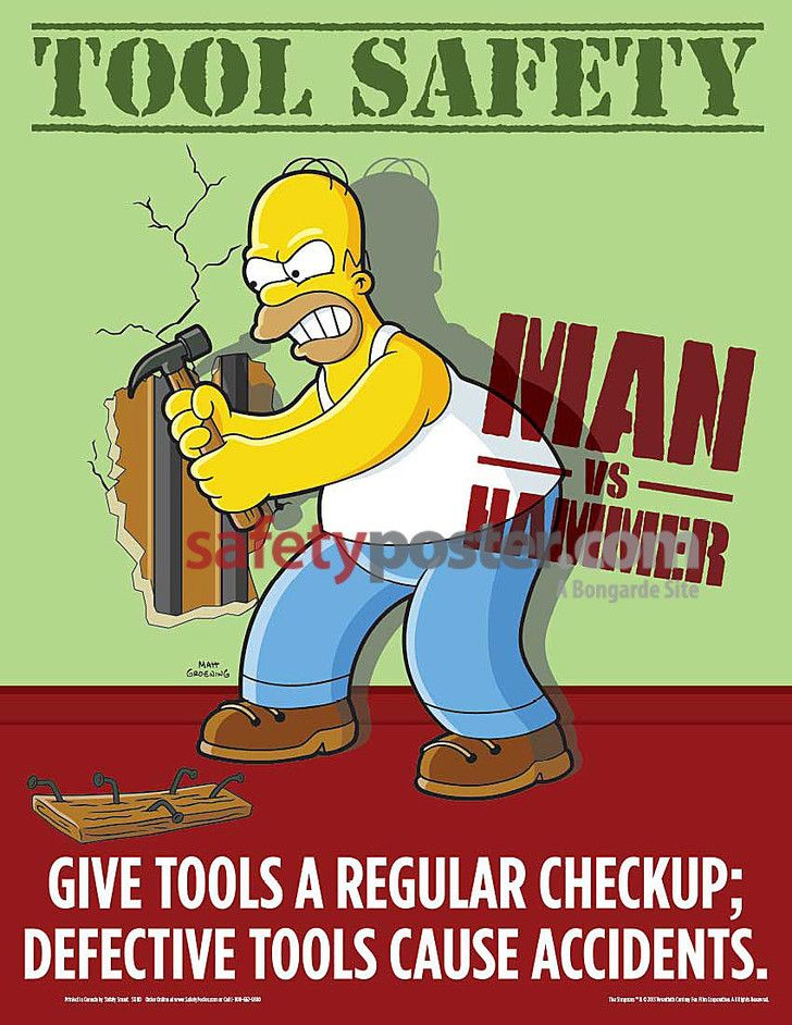 hand tool safety posters. simpson\u0027s safety posters hand tool a