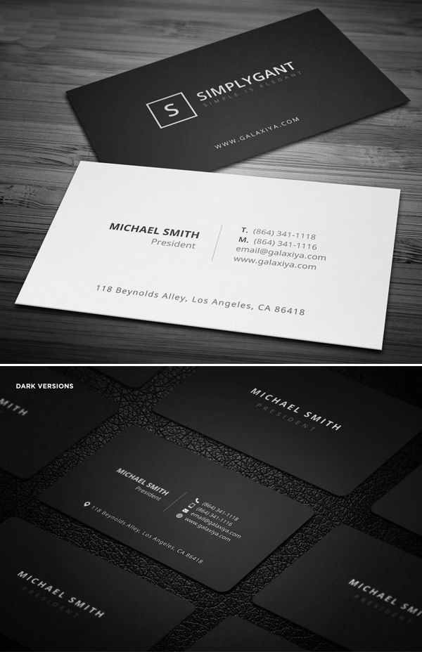 simple modern business card template designs in 2020