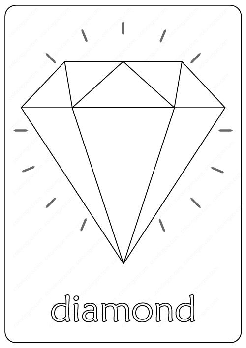 Free Printable Diamond Coloring Pages Diamond Printable Coloring Pages Free Coloring Pages