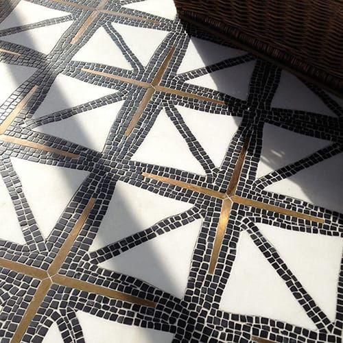 Nero Marquina Thassos Bronze Multi Finish Indus Marble Mosaics 16 9 16x15 Country Floors Of America Llc 916x15 Ame In 2020 Marble Mosaic Mosaic Tile Floor Diy