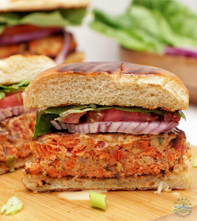 Wild Alaskan Sockeye Salmon Burgers Recipe Salmon Burgers Burger Meat Canned Salmon Recipes