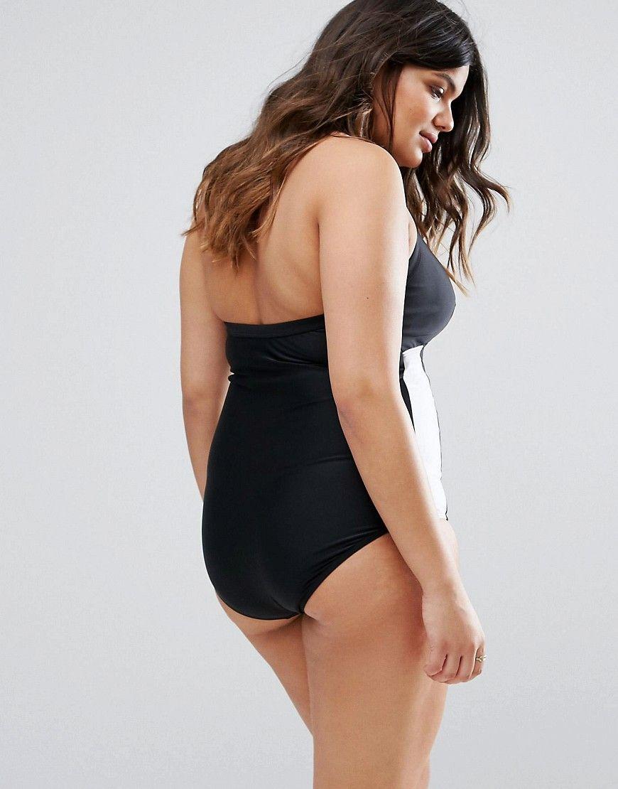 c41dd3385be Junarose Color Block Swimsuit - Black