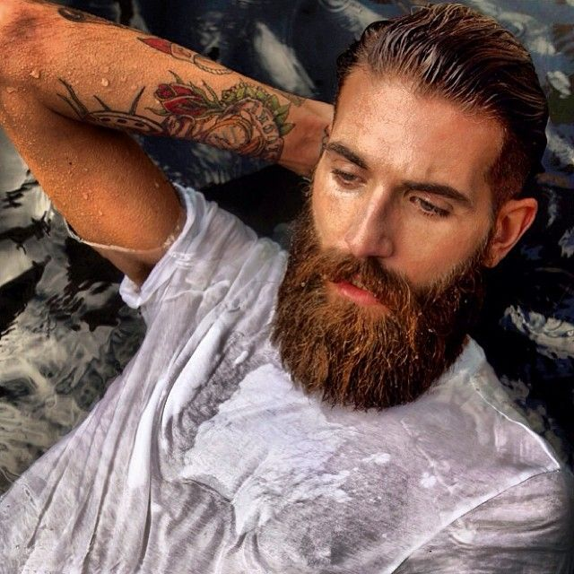 Big red full thick beard and mustache beards bearded man for Red beard tattoo
