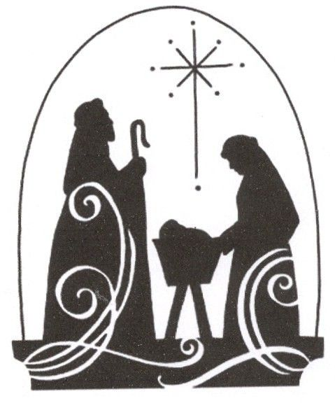 Christmas Baby Jesus BNativity B Scene Silhouette Cross Stitch Pattern