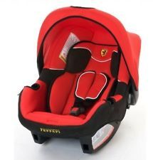 Brand New Official Licensed Ferrari Baby Infant Carrier Carseat