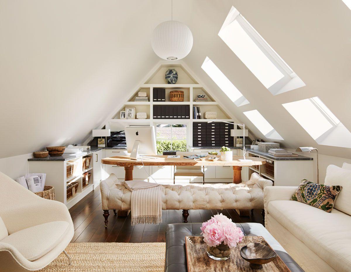 20 Enviable And Imitable Desks Attic Renovation Attic Remodel Loft Spaces
