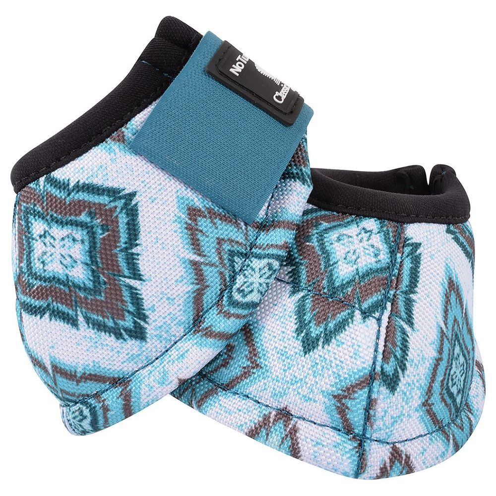 Classic Equine Teal Diamond Dyno No Turn Bell Boots Size