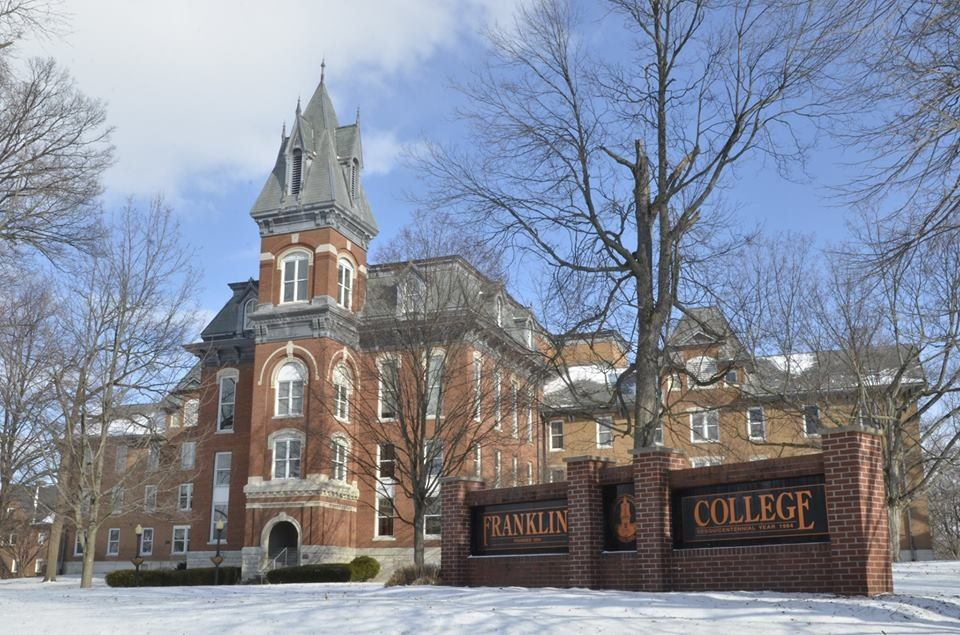Franklin College Indiana >> Front Of Old Main On The Campus Of Franklin College In Franklin