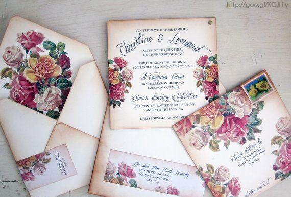 Invitaciones para boda #Vintage #Wedding #invitation #YUCATANLOVE