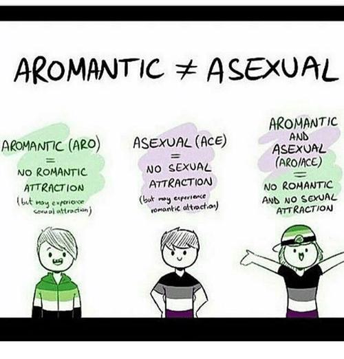 Define aromantic asexual