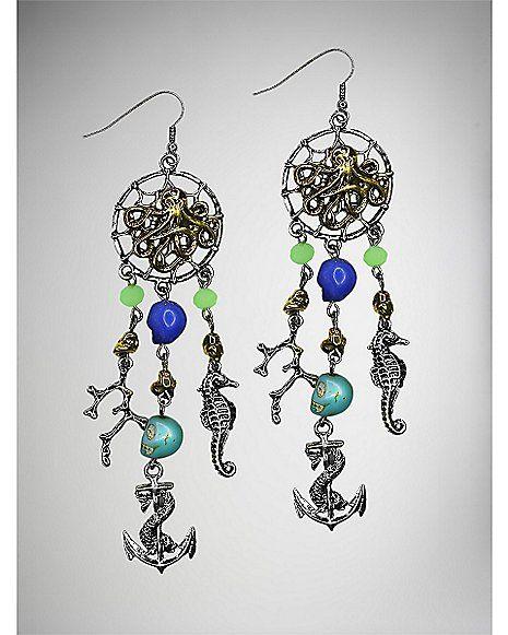 Nautical Dreamcatcher Dangle Earrings - Spencer's