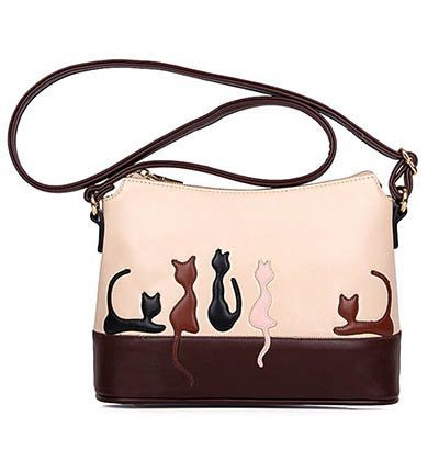 8f26aa7daf LINLANYA Dual Use Women Detachable Belt Crossbody bags Cute Cat Rabbit PU  Leather Girls Shoulder Bag Lady Messenger Casual Tote