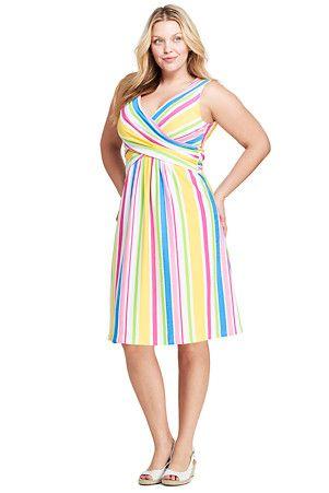 Gemustertes Jerseykleid mit Wickeloberteil für Damen in ...