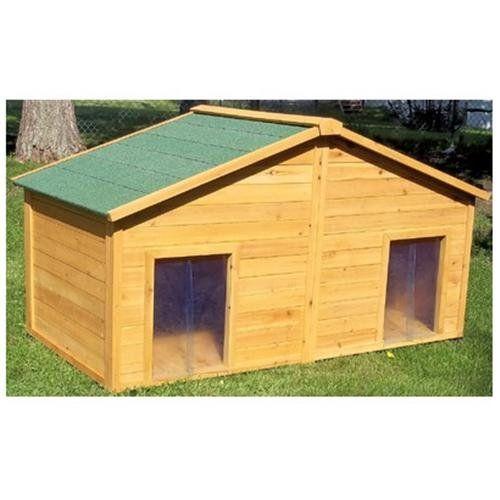 Duplex Cedar Dog House Size Large 42 H X 36 W X 72 D Dog Houses Small Dog House Outdoor Dog House