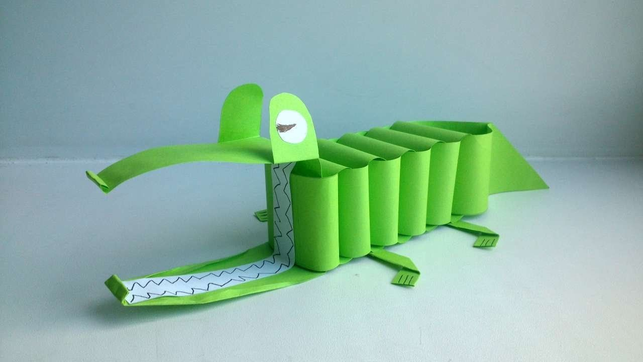 How To Make A Paper Crocodile With Your Child - DIY Crafts Tutorial - Guidecentral
