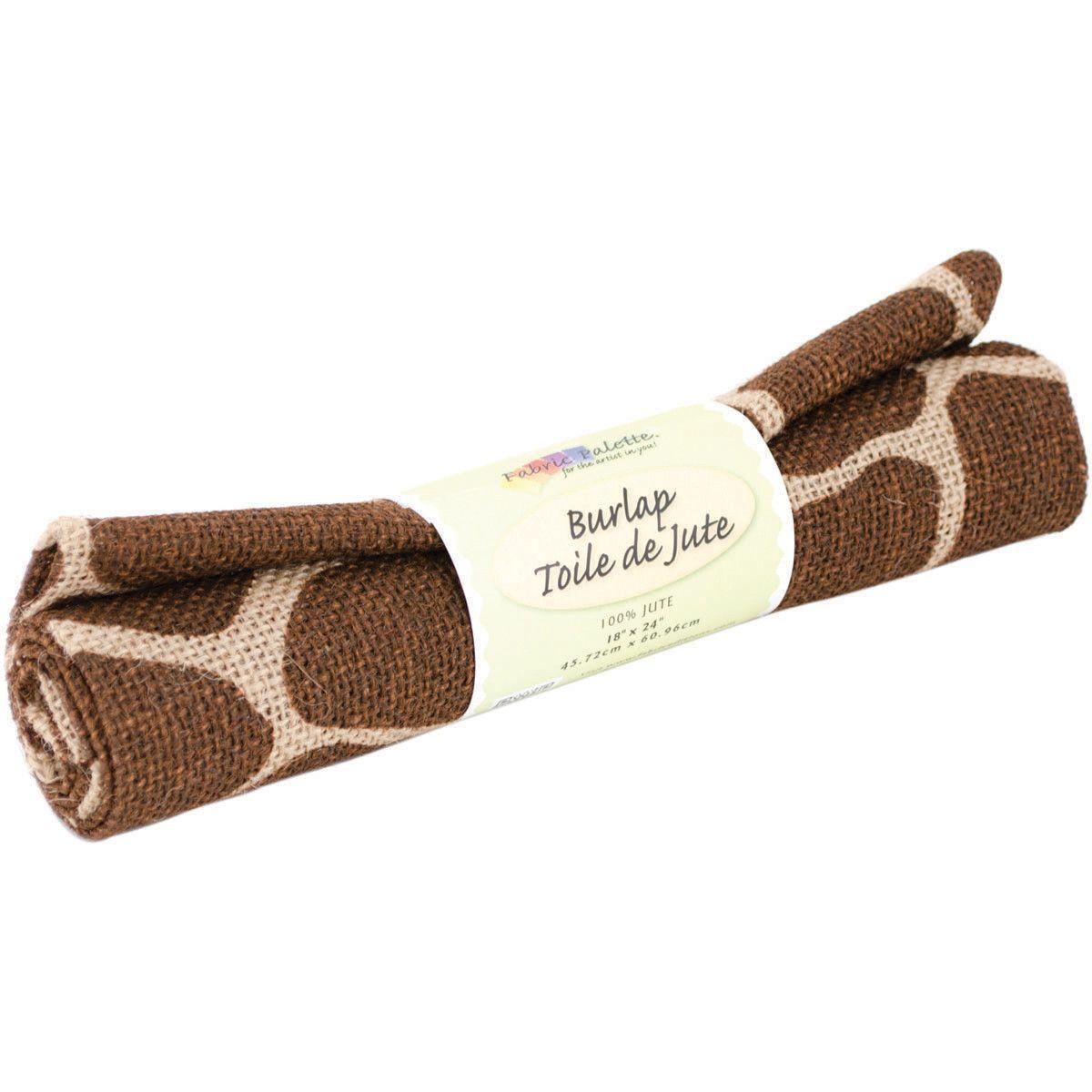 Fabric Palette Printed Burlap Giraffe Brown