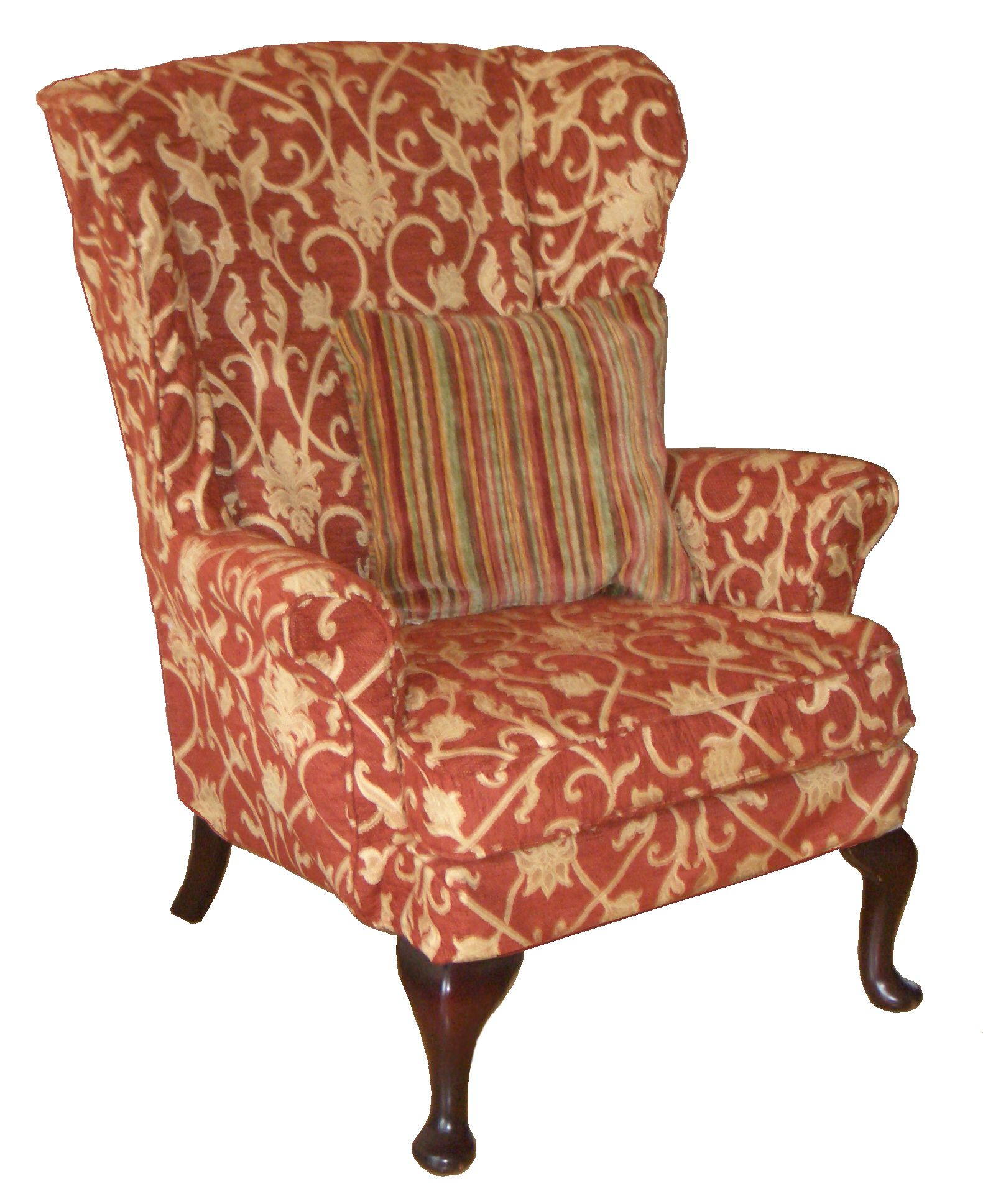 Black Wingback Chair Covers Swing Townsville Floral Cover For Wing Back Chairs Loose