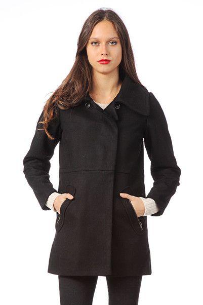 e05a8b249450 Manteau en laine Aldric Coat Noir 2two sur MonShowroom.com