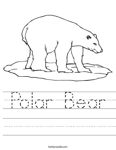 polar bear worksheet twisty noodle work sheets pinterest polar bear worksheets and bears. Black Bedroom Furniture Sets. Home Design Ideas