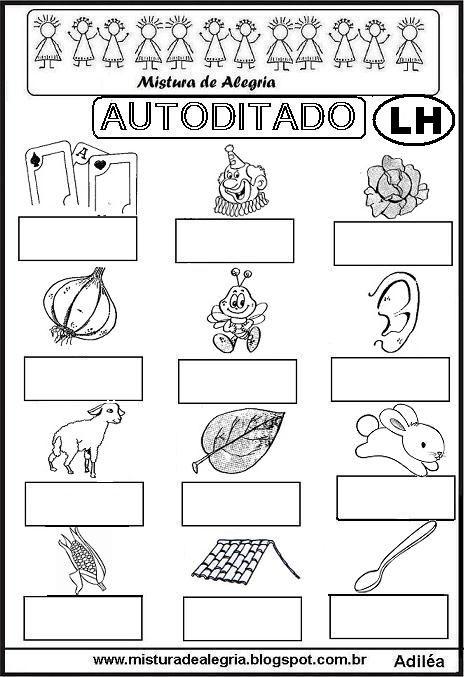 Silabas Complexas Atividades Para Imprimir Palavras Com Lh