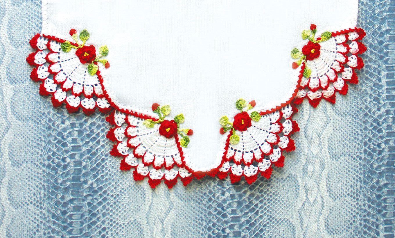 Barrado De Croche Com Flores No Pano De Prato Com Imagens