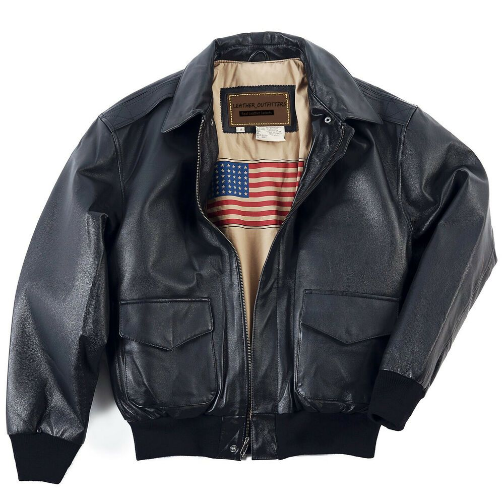 Leather Jacket Men S Air Force A 2 Leather Flight Bomber Jacket Regular Big Leather Outfiters Bik Leather Flight Jacket Flight Jacket Leather Jacket Men [ 1000 x 1000 Pixel ]