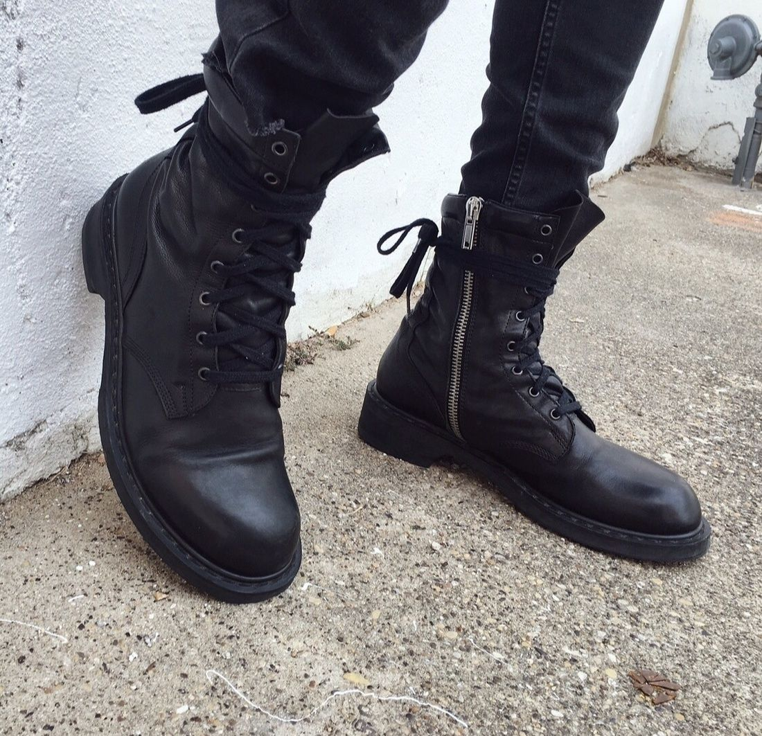842ad182a8f Rick Owens Combat Boots S S 08  Size 10  1500 - Grailed