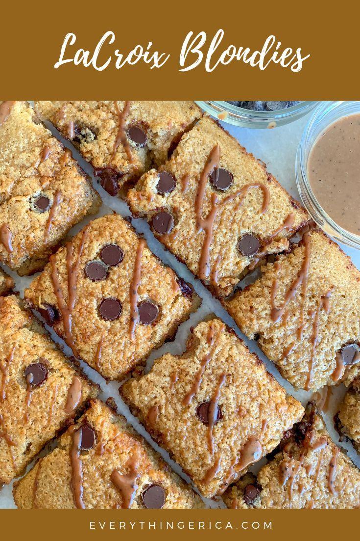 2 ingredient lacroix blondies recipe cheesecake bar