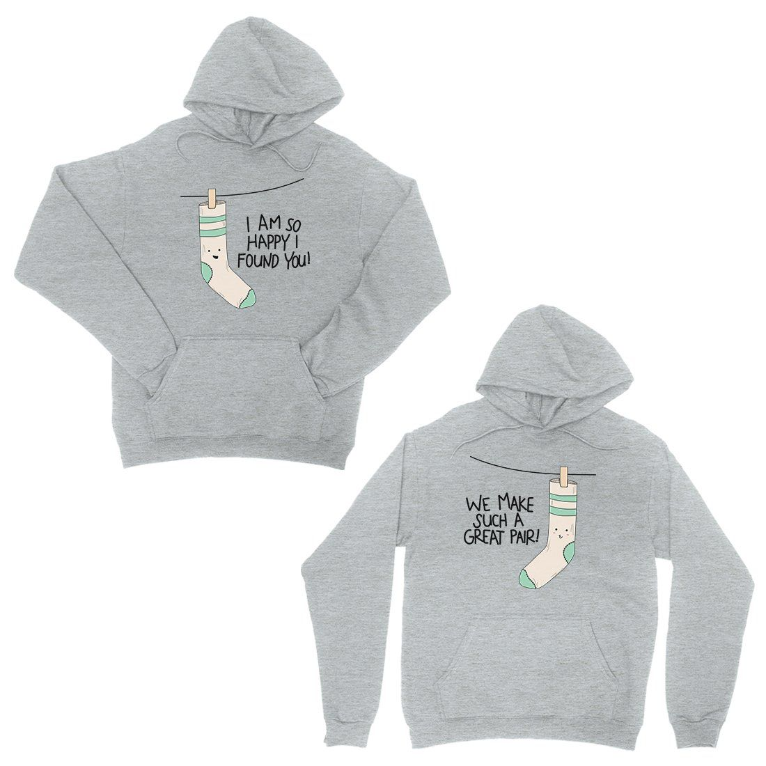 Socks Great Pair Grey Matching Couple Hoodies For Anniversary Gift Trivoshop In 2021 Couples Hoodies Matching Hoodies For Couples Matching Hoodies [ 1100 x 1100 Pixel ]