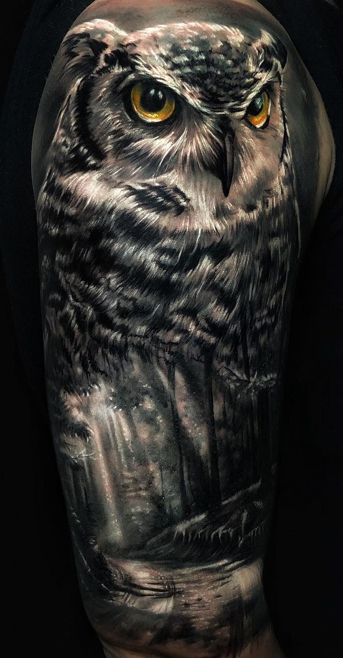 50 of the Most Beautiful Owl Tattoo Designs and Their Meaning for the Nocturnal