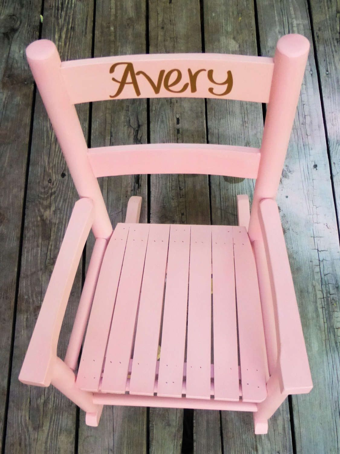 Personalized Rocking Chair Forkids, Kids Furniture, Toddler Rocking Chair,  Pink Gold And White