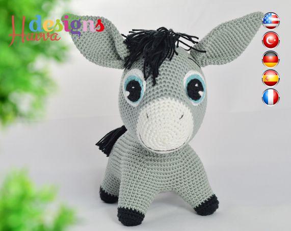 Snoopy Easy Amigurumi Pattern : Cute donkey crochet pattern donkey amigurumi and toy