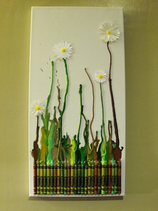 Melty Crayon Art This Would Be Fun For The Kids And I Also Decor