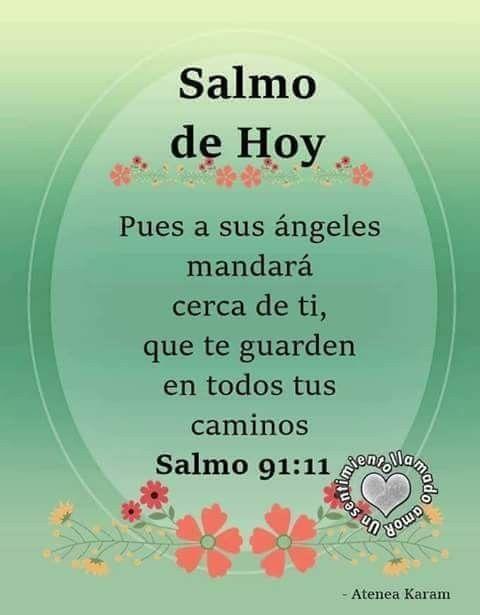 Protector Salmo Me Cuidara Yme Dara Larga Vida Frases De Dios
