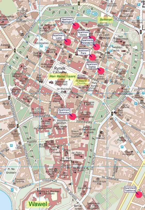 Krakow map voyage Pinterest Krakow and Poland