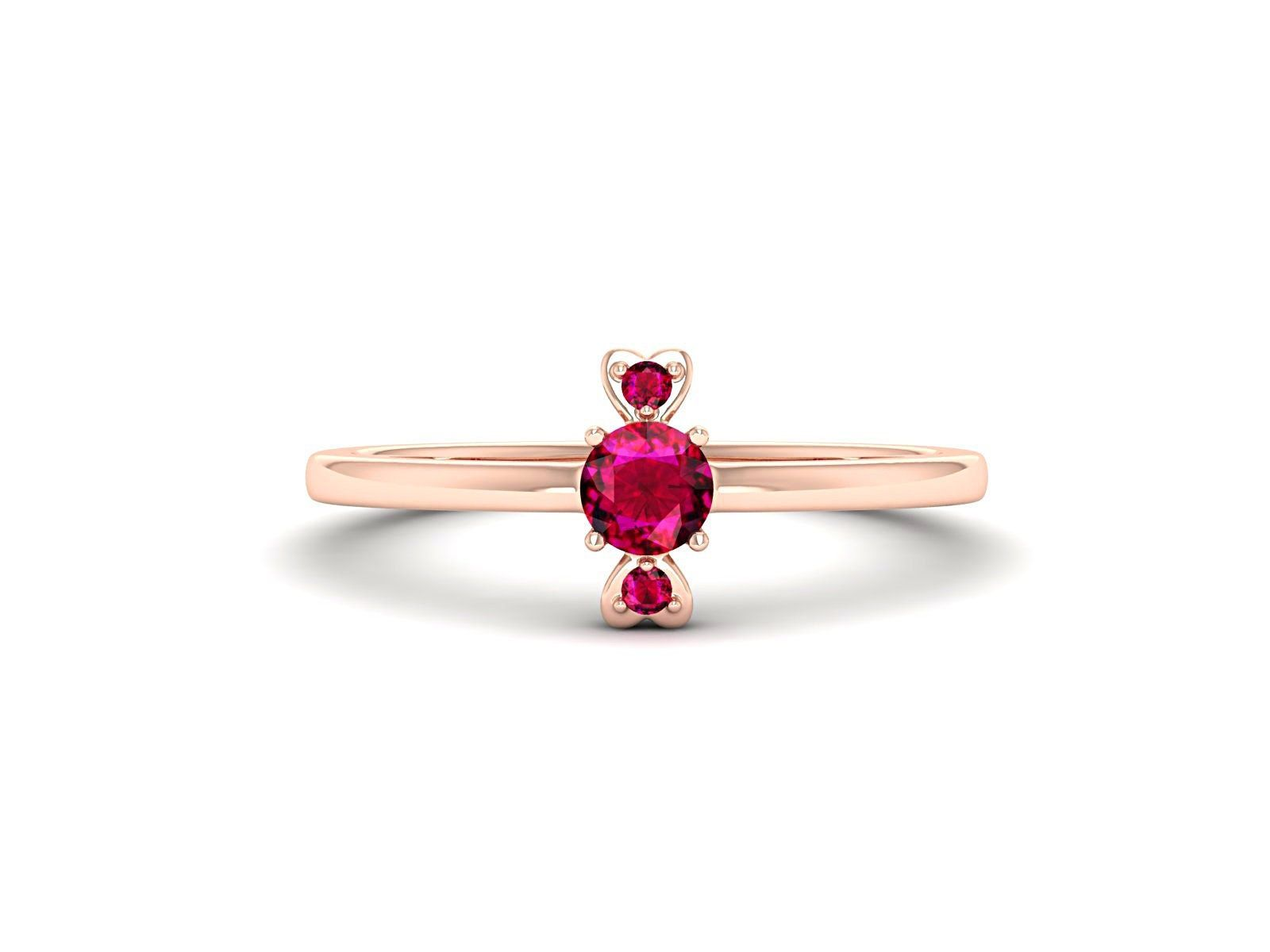 Center Stone : Ruby Ruby - The gem of love! This gemstone with its vivid reddish hue is recognizable from afar! Exquisite and exceptional, Ruby symbolizes a unique regal exotic beauty. The majestic stone resonates passion, femininity and love. Metal Available : Gold - The 14 and 18 carats Gold Rings ( Hallmarked ) come is 3 metal variants that include white gold, rose gold and yellow gold. Trust : The quality of our metals, stones, precious and semi-precious gems is unmistakable. All our gemston