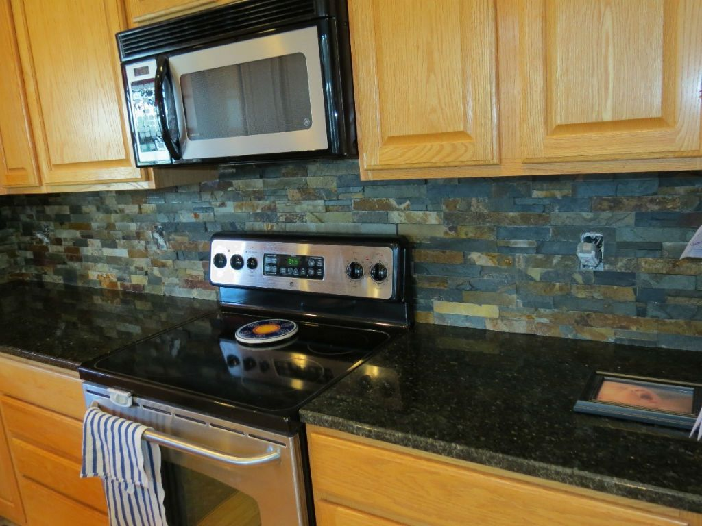 Dark Granite Countertops Backsplash Ideas Part - 48: The Cool Backsplashes For Black Granite Countertops Backsplash Designs Oak  Cabinet Kitchen Backsplash Ideas For Black