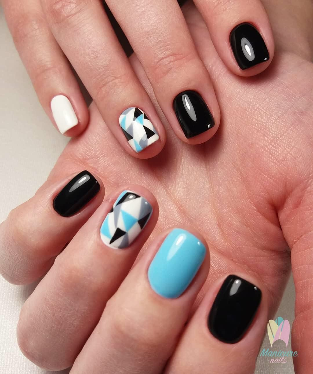 Pin by Яна Палехина on Геометрия in pinterest nails nail