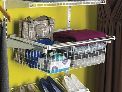 Bon Sliding Wire Basket | Configurations | Home Free | Closet Organization |  Rubbermaid