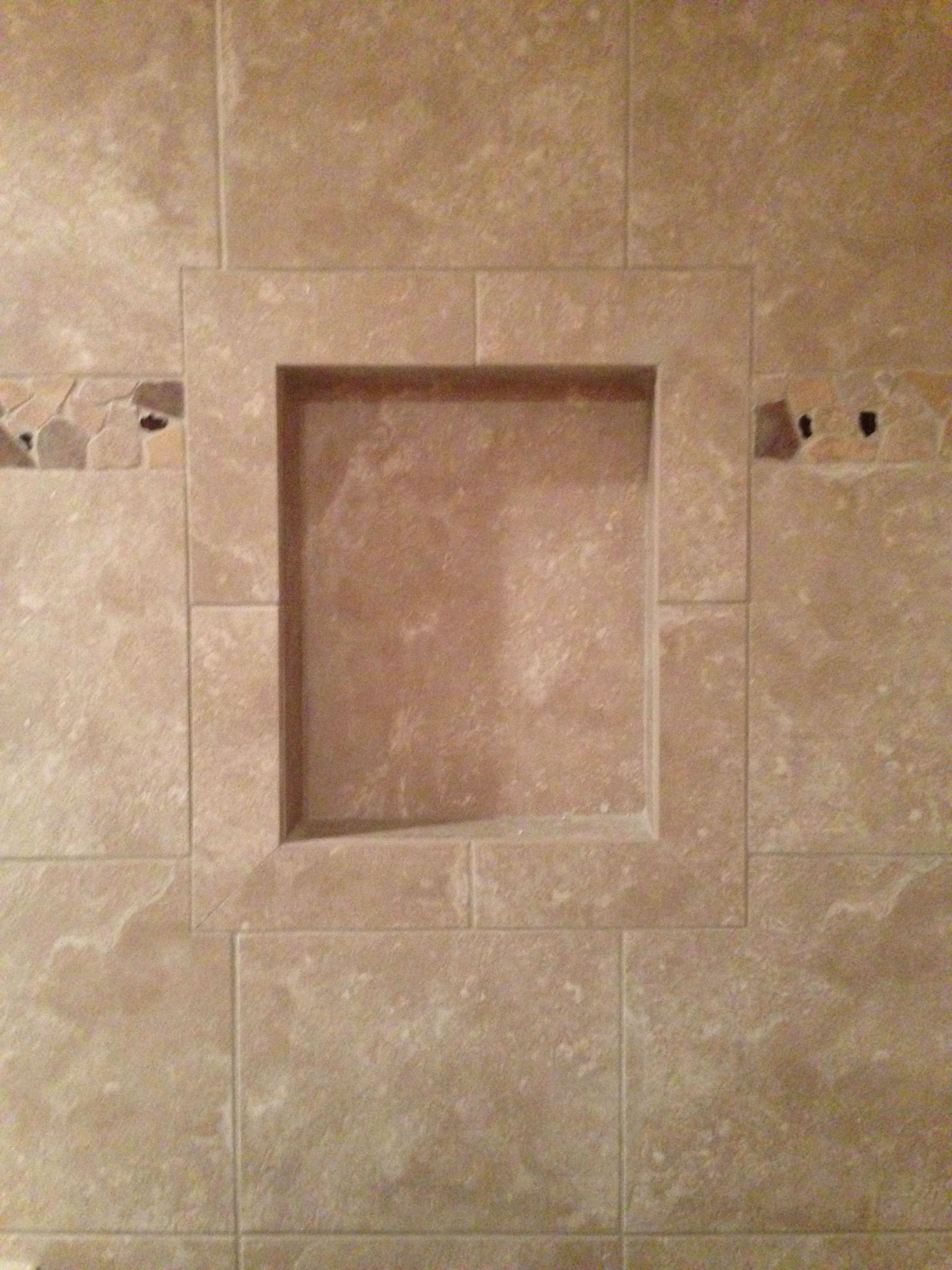 Bathroom niche for all your shampoos and soaps. -CRA Tile & Stone ...