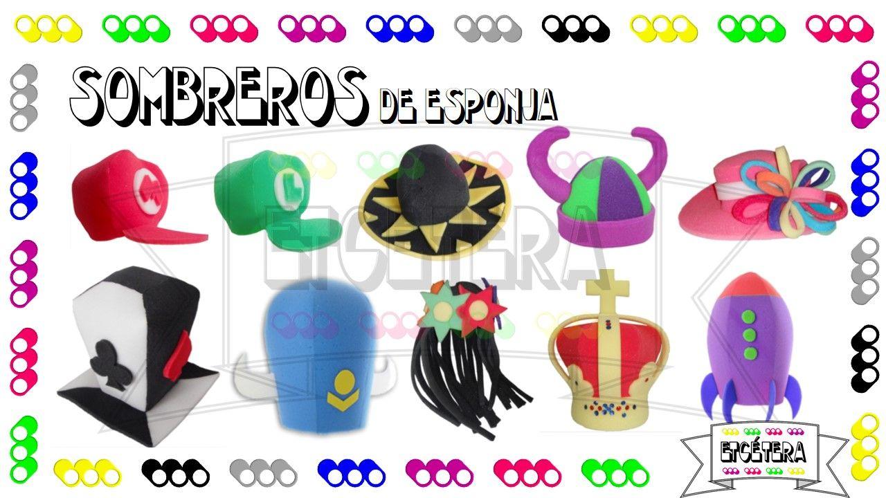 Sombreros  esponja  decoracion  fiesta  cotillon  party  etcmx  gorros https 36b919ccaee