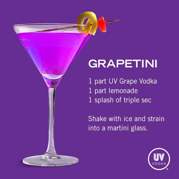 UV Vodka Recipe: Grapetini