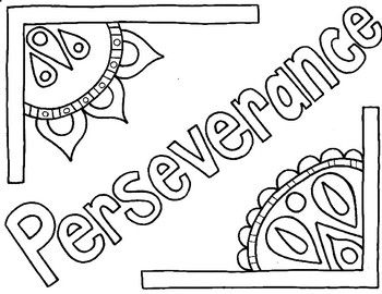 Character Ed Perseverance Coloring Page Coloring Pages