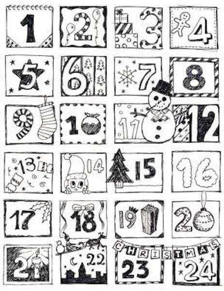 Calendario Dellavvento Da Stampare Per Bambini.Pin Di Antigoni Su Xristoygenna Conto Alla Rovescia Per