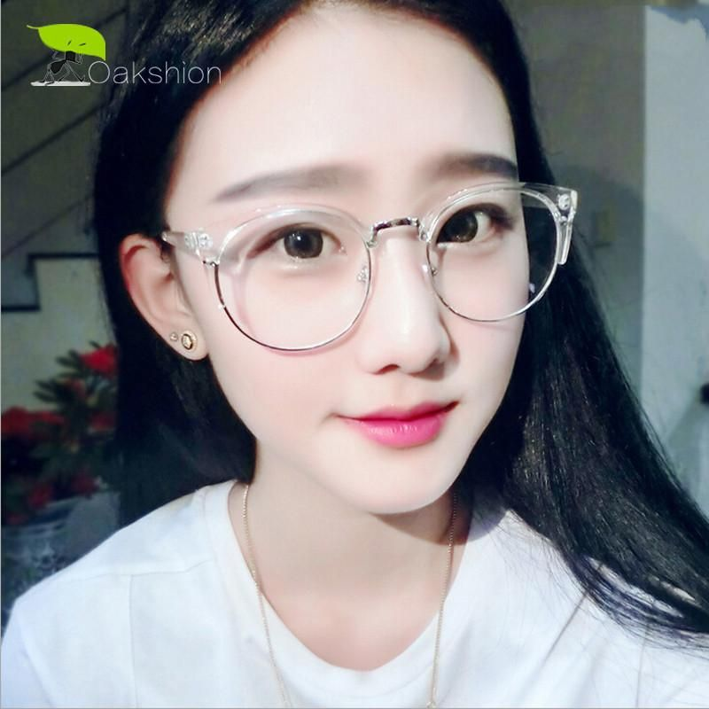 112ec1e7cba Vintage Eyeglasses Round Frame Ladies Clear Glasses Transparent Frames  Women Retro Spectacle Optical Female Computer Eyewear