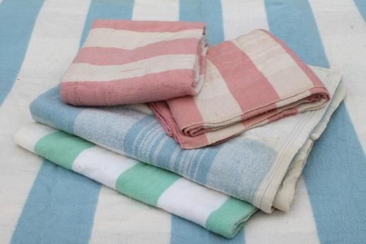 vintage striped cotton flannel blankets 4b6817680