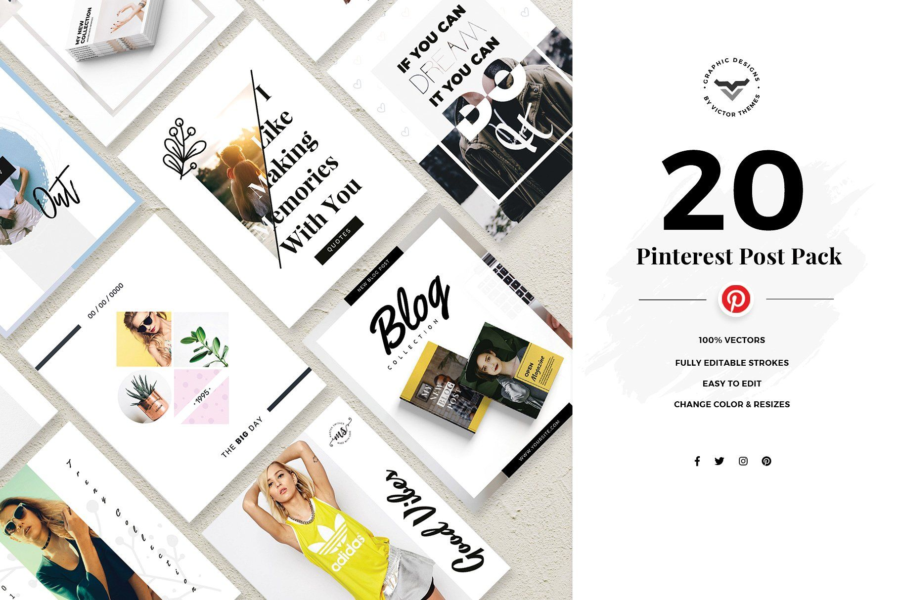 Pinterest Social Media Template Social Media Template Social Media Pinterest Pinterest Templates