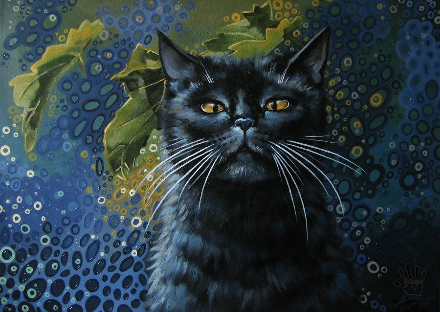 Detail Oil On Canvas A Tribute To Rembrandt My Burmese King My Muse And Companion Of 11 Years Cats Illustration Cat Painting Cat Art